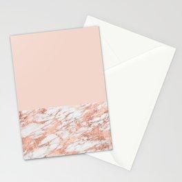 Blush massarosa - rose gold marble Stationery Cards