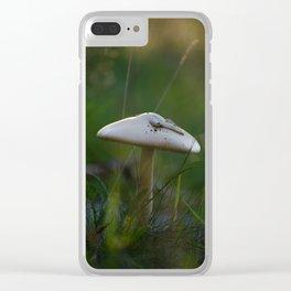 Golden Hour Mushroom Clear iPhone Case