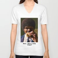 pulp fiction V-neck T-shirts featuring PULP FICTION by i live