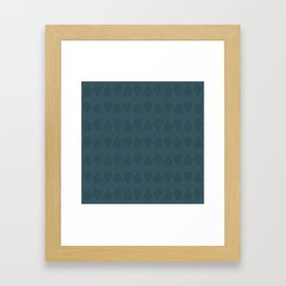 Abstract Tear Pattern - Dark Blue Framed Art Print