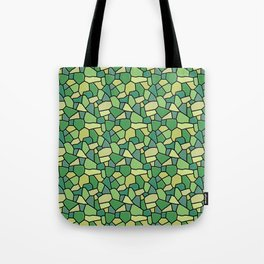 Stained Glass Green Tote Bag