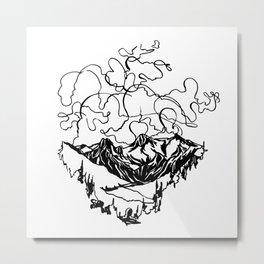 Smoke Show :: Single Line Metal Print