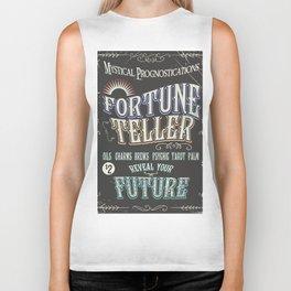 Mystical Fortune Teller poster Biker Tank