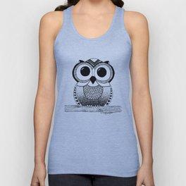 Wide Eyed Owl Unisex Tank Top