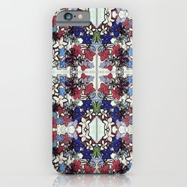 Red-White-Blue Crowded Garden iPhone Case