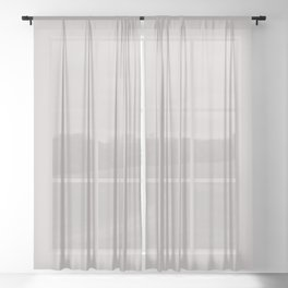 Smoke Light Pastel Gray Solid Color Pairs with Sherwin Williams 2020 Forecast Colors Grayish SW6001 Sheer Curtain