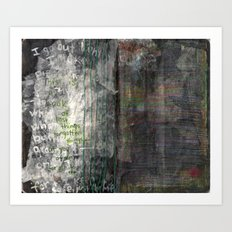 Pressed between pages 4 Art Print