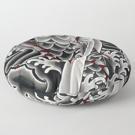 Japanese tattoo style Koi Floor Pillow