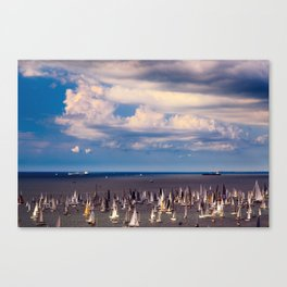 The Barcolana regatta in the gulf of Trieste Canvas Print