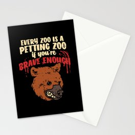 Every Zoo Is A Petting Zoo If You're Brave Enough – Illustration Stationery Cards