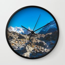 Hiking to Laguna Torre, Patagonia, Argentina 2 Wall Clock