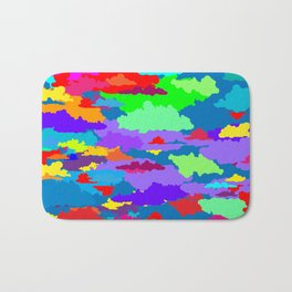 Neon Clouds Bath Mat