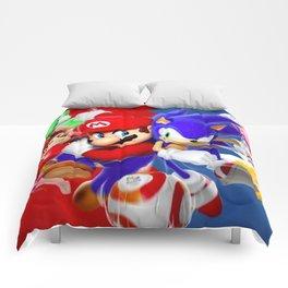 Mario vs Sonic Comforters