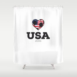 USA Soccer Shirt 2016 Shower Curtain