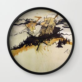 Man of the Mountain Wall Clock