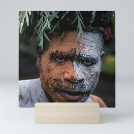 Papua New Guinea Exotic Sing-Sing Performer Mini Art Print