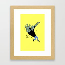Handsome Squidward x Johnny Bravo Framed Art Print