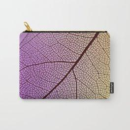 abstract transparent purple yellow leaf hoja amarilla púrpura transparente abstracta Carry-All Pouch