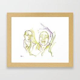 The Crazy Kids Framed Art Print