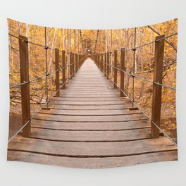Golden Grove Suspension Bridge Wall Tapestry