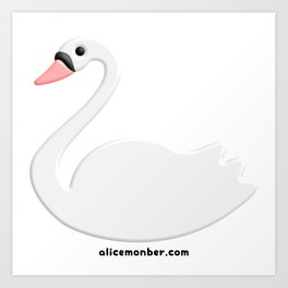 Cute Swan Art Print