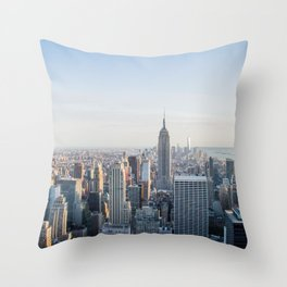 Towers - City Urban Landscape Photography Throw Pillow