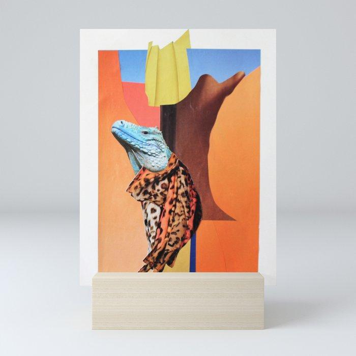 Blue Head Mini Art Print
