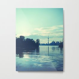 toronto skyline on sunset Metal Print
