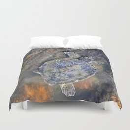 SEA TURTLE-Old Man of the Sea Duvet Cover