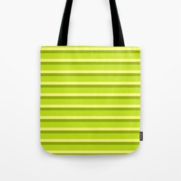 Lime Green Stripes Tote Bag