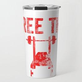 Free The Bench Press Weathered Travel Mug