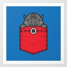Pocket Rhino Art Print
