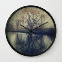fog Wall Clocks featuring Fog by KunstFabrik_StaticMovement Manu Jobst