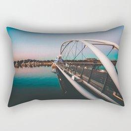 Tempe Lake Bridge Arizona Rectangular Pillow