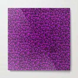 Dazzling Violet Vintage Flowers Metal Print