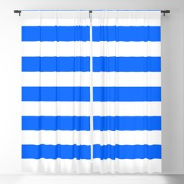 China Blue and White Medium Stripes Blackout Curtain