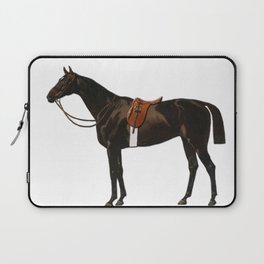 Vintage equestrian horse sketche decor Laptop Sleeve
