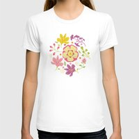 oriental T-shirts featuring Oriental Blooms by Poppy & Red