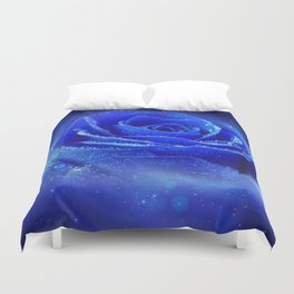 Blue Rose of the Universe Duvet Cover