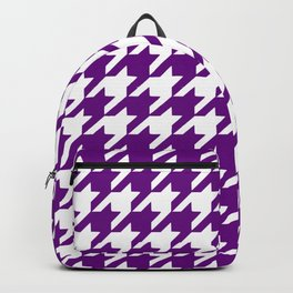Purple houndstooth pattern Backpack