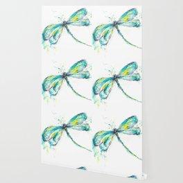 Watercolor Dragonfly Wallpaper