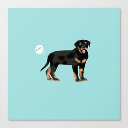 rottweiler funny farting dog breed pure breed pet gifts Canvas Print