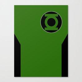 Minimalist Green Lantern - Kyle Rayner Canvas Print