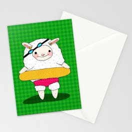 Let's Go To A Pool (Lambie) Stationery Cards