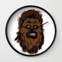 chewbacca Wall Clocks featuring Chewbacca by MuDesignbyMugeBaris