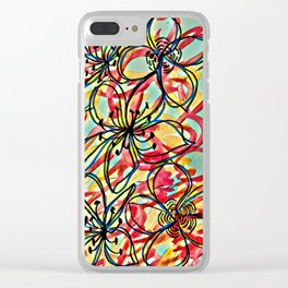 Color and Flow Clear iPhone Case