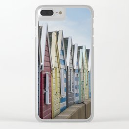 Beach Huts Clear iPhone Case