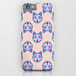 Henna Wolf Pattern iPhone Case