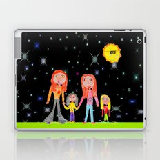 Space Hippie Girls   Kids Painting Laptop & iPad Skin