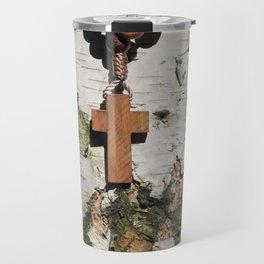 Rosary on tree Travel Mug